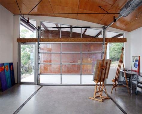 glass garage door houzz