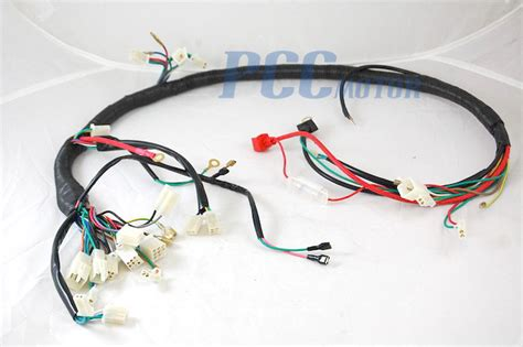 chinese gy cc wire harness wiring assembly scooter moped sunl roketa wh