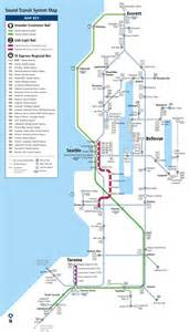 Seattle Light Rail Map by Seattle Express Bus Rail And Light Rail Map