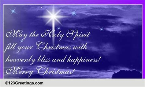 heavenly bliss christmas happiness  religious blessings ecards