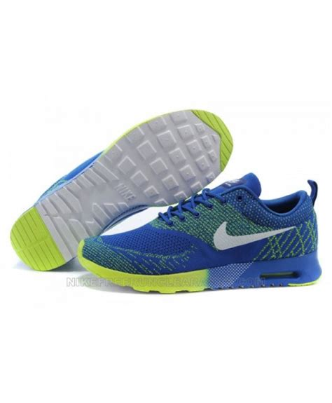 nike air max thea flyknit blue volt sport sport shoes