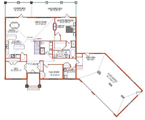 angled house plans attached angled to the right garage house plans google