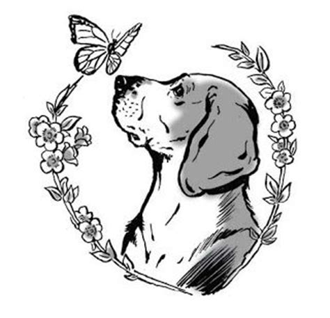beagle tattoo designs best 25 beagle ideas on pet tattoos