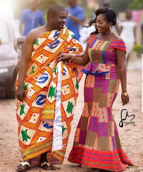 kente dresses styles congratulations yaw and akosua royalty pic via