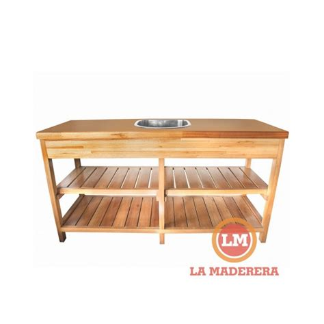 mueble bajo mesada alacena  bacha incluida en saligna grandis la maderera