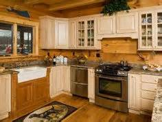 ideas about log cabin kitchens pinterest best plans floor tiny