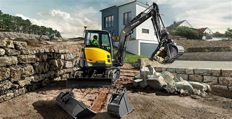volvo ecrd compact excavator launched  singapore