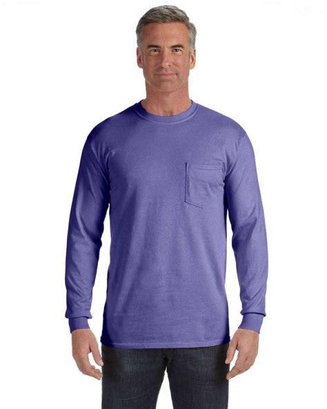 comfort colors violet comfort colors c4410 sleeve pocket t shirt