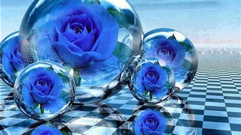 blue bubbles flowers hd abstract wallpapers hd
