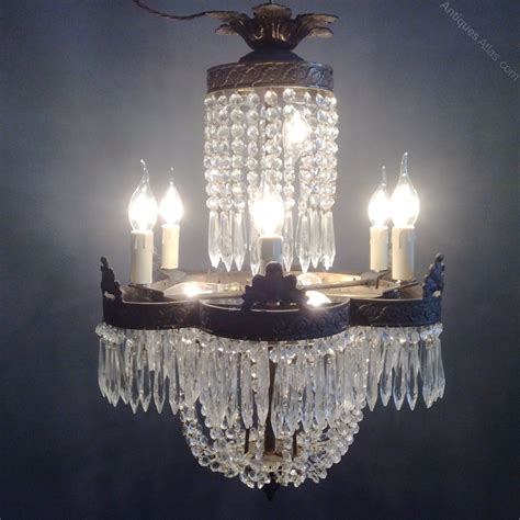 Non Hardwired Chandelier Antiques Atlas Empire Tiered Chandelier
