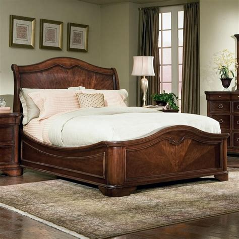 King Size Sleigh Bedroom Sets by Heritage Court King Bed With Sleigh Headboard Low
