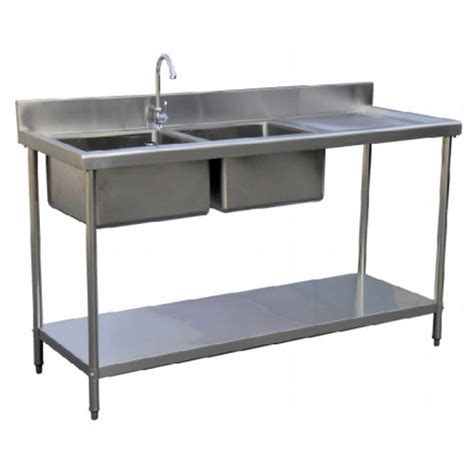 cing kitchen table with sink stainless steel bowl sink rh drainer sk catering