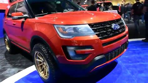 2016 ford explorer lifted 2016 ford explorer sport offroad sema show 2015