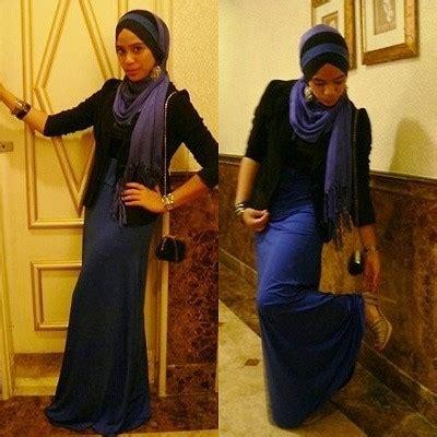 3 In 1 Maxi Blazer Pasmina jixs azmi h m blue pashmina black blazer maxi dress