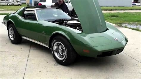 corvette stingray green 1973 corvette stingray elkhart green metallic t tops