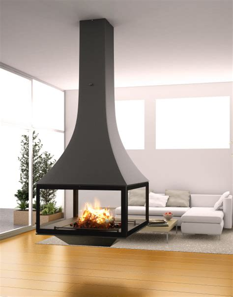 foyer suspendu cheminee julietta 985 black line suspendue avec foyer