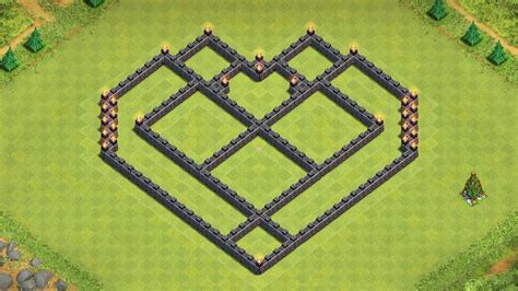 coc layout heart coc epic town hall 7 farming base build heart design