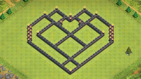 Coc epic town hall 7 farming base build heart design youtube
