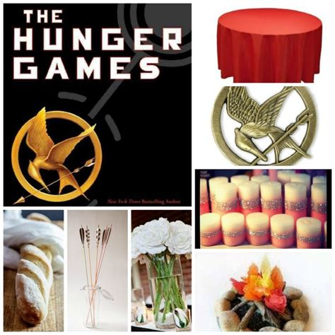themes in the hunger games and 1984 book themed party table 2 the hunger games red