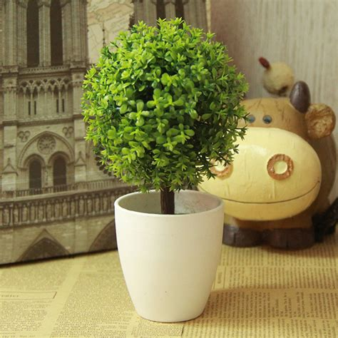 artificial green potted plants plastic tree home