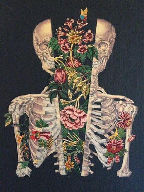 Flower Skull Drawing
