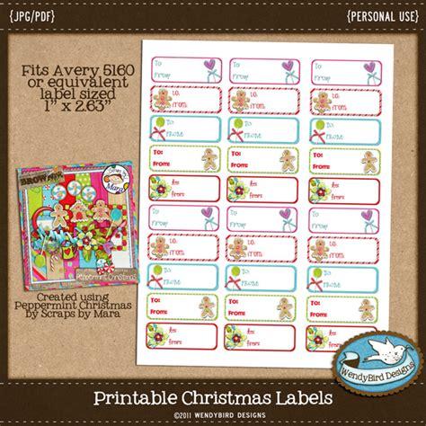 free printable christmas tags avery 8160 wendybird designs day 2 of christmas freebies