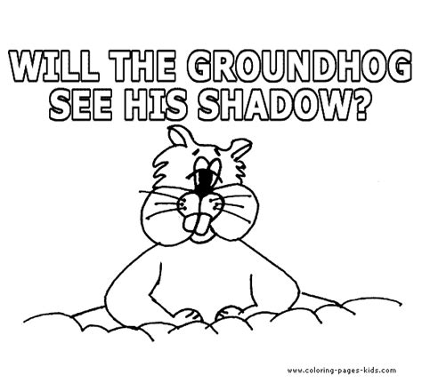 Pin Groundhog Day Coloring Pages For Kids Free Online Groundhog Day Coloring Page