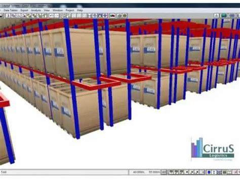 warehouse layout simulation class warehouse modeling simulation youtube