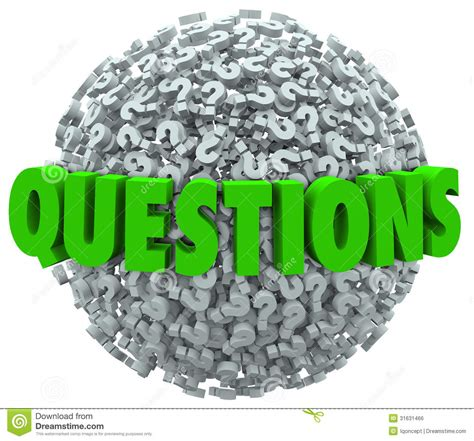 the official word of askcom questions word question mark ball asking for answers stock