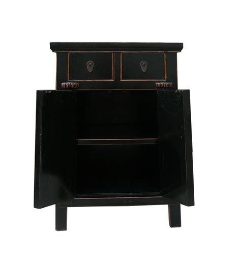 nightstand size black lacquer middle size end table nightstand accent
