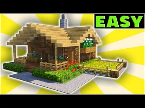 minecraft starter house tutorial [easy] how to build a