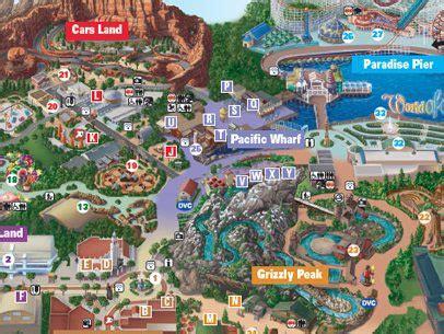 disney california adventure® map anaheim inn