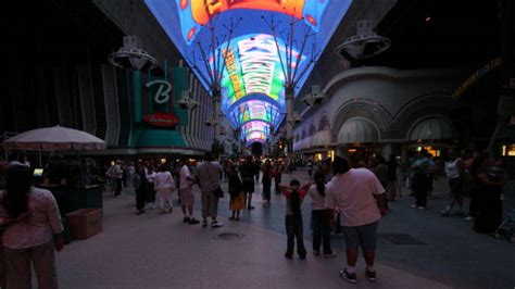 downtown las vegas light show the light show at fremont street experience in downtown