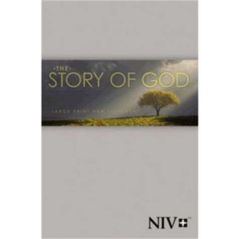 niv the story of god new testament large print paperback