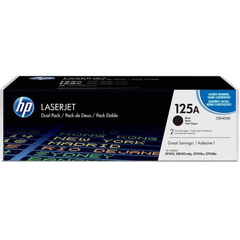 Hp 125a Black Laserjet Toner Cartridge Cb540a Original original hp 125a cmyk multipack toner cartridges cb540a cf373am hp colour laserjet cp1515n