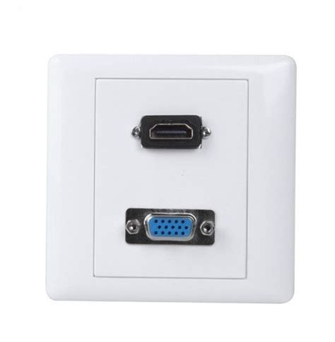 Vga Outlet Hdmi Outlet hdmi vga wall plate outlet panel cover white v627