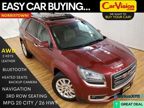 pre owned  gmc acadia slt  navigation moonroof rear