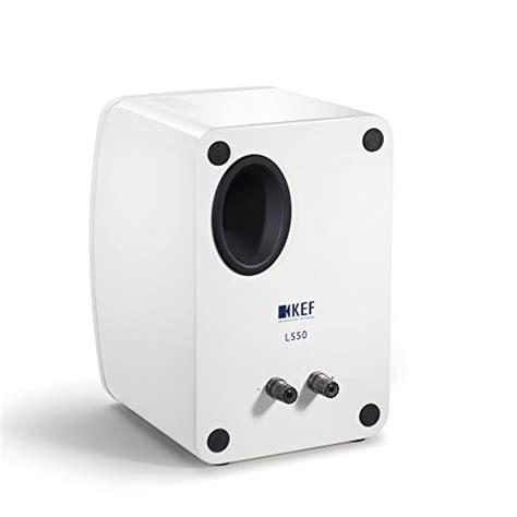 Kef Ls50 Mini Monitor Gloss White Pair kef ls50 mini monitor speaker gloss white electric blue pair erics electronics
