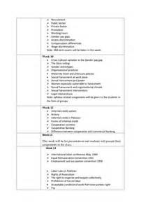 Employment Discrimination Outline by Course Outlines Gender Studies Punjab