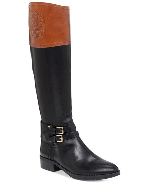 vince camuto black boots vince camuto pryna boots in black lyst
