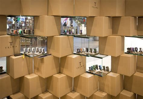 collect this idea creative pop up store in poland made of cardboard and