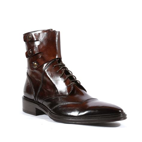 jo ghost italian mens shoes inglese brown leather boots