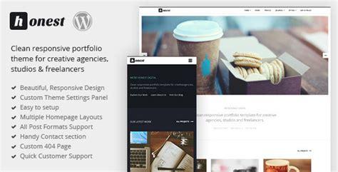 blog theme portfolio plantillas wordpress honest clean responsive portfolio