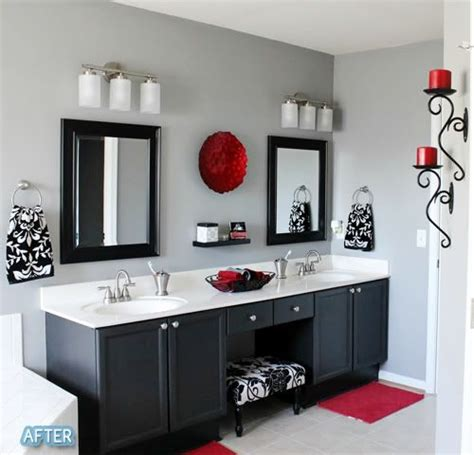 Red And Black Bathroom Ideas | bathroom designs black and red bathroom modern black white