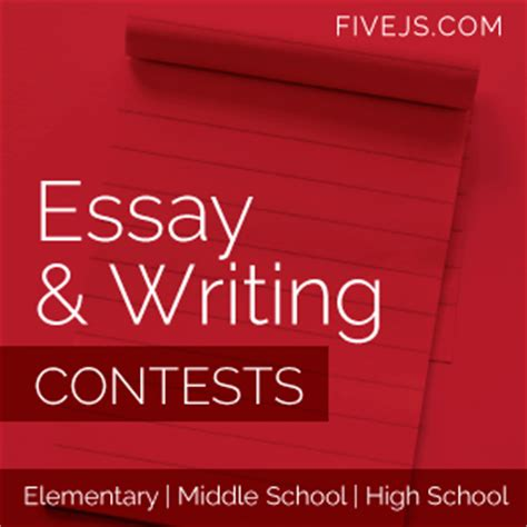 Essay Writing Competition 2014 For College Students by Essay Writing Contests For 2013 2014 Elementary Middle And High School Five J S Homeschool