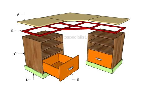 Corner Desk Building Plans How To Build A Corner Desk Howtospecialist How To Build Step By Step Diy Plans