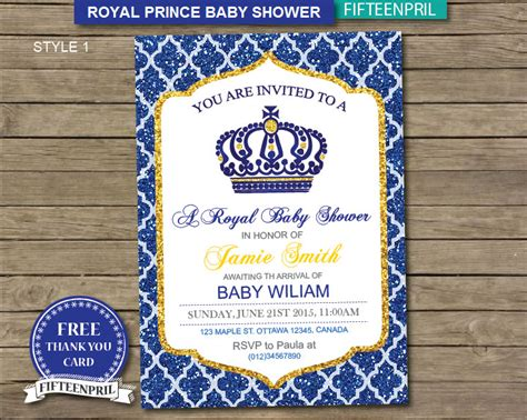 Royalty Themed Baby Shower by Royal Themed Baby Shower Invitations Royal Themed Baby