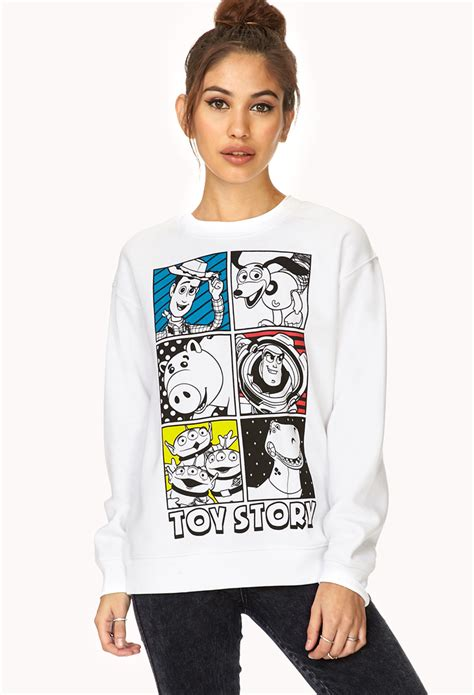 Sweater Hoodie Globe Int Est forever 21 story sweatshirt in white lyst