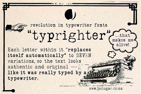 cool typewriter fonts  bashooka