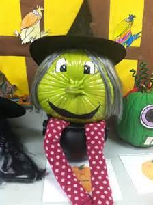 young lively kindergarten pumpkin decorating contest